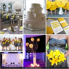 Modern Yellow and Gray Wedding