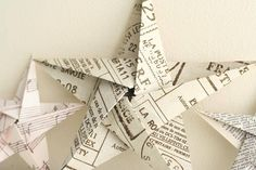 5 pointed origami star Christmas ornaments - step by step instructions & videos! Christmas Origami, Christmas Art, Christmas Projects, Christmas Holidays, Beautiful Christmas, Book Crafts, Holiday Crafts, Paper Crafts, Christmas Star Decorations