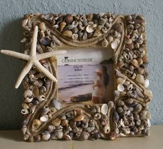 Seashell picture frame  Home Decor coastal frame by JustShellin on etsy.com $29.99