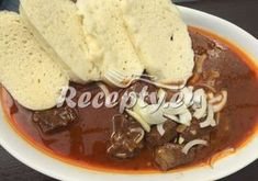 Recepty pro pomalý hrnec - Recepty.eu Goulash, Crockpot, Pancakes, Food And Drink, Ice Cream, Pudding, Breakfast, Ph, Red Peppers
