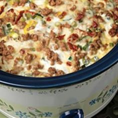 slow cooker sausage breakfast casserole.