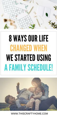 Organize your busy mom life with a family schedule. With a daily and weekly schedule in place your routine will be manageable and us mommas can keep our sanity! Reduce that stress when you change up your schedule and use time management throughout your day!