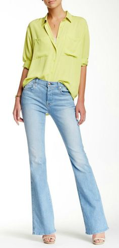 7 For All Mankind Bootcut Jean <3 My favorite.