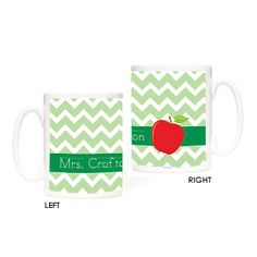 Our Teacher's Apple Mug will make the perfect end of the year, teacher's gift, for your kid's favorite teacher! Personalized Teacher Gifts, Personalized Stationery, Custom Journals, Teacher Favorite Things, Ceramic Mugs, Note Cards, Apple, Kids, Apple Fruit