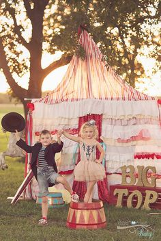 Big Top - OOAK Ruffled backdrop - Faux Tent - Shabby, Tattered, Vintage Circus Party Theme Prop on Etsy, $449.00