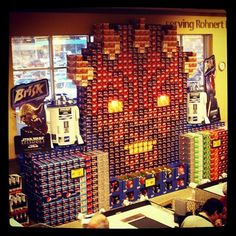 Darth Maul Pepsi display. I remember vendors making amazing displays like this when I worked for Stater's...