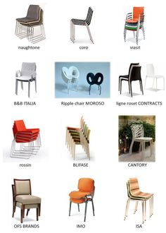 Sillas apilables • Stackable chairs