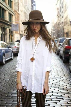 simple boho fashion • necklace • hat