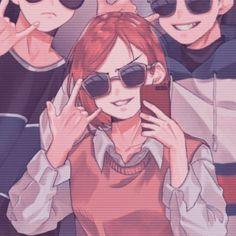 5 Anime, Chica Anime Manga, Kawaii Anime, Anime Guys, Dark Anime, Cute Anime Profile Pictures, Matching Profile Pictures, Cute Anime Pics, Friend Anime