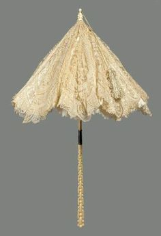 White lace parasol  French, about 1872