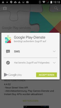 Google Play Dienste sind installiert