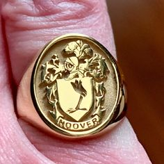 Sterling silverFamily Crest Coat of arms Heraldic Mens Gold Rings, Rings For Men, Mens Signet Rings, Family Crest Rings, Family Ring, Charles And Colvard Moissanite, Half Eternity Ring, Gentleman, Personalized Rings