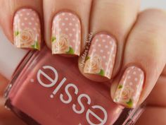 Spektor's Nails: Valentine's Day: Roses & Polka Dots