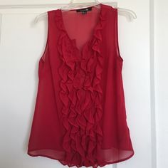 Dark red forever 21 top Beautiful color. Very comfortable top. Sleeveless. Forever 21 Tops Blouses