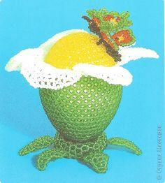 """Мастер-класс Бисероплетение: Схема и описание яйца """"Дуэт"""" Бисер Пасха. Фото 1"""