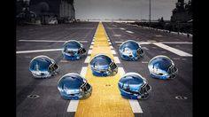 Seven Navy Fleet Helmets