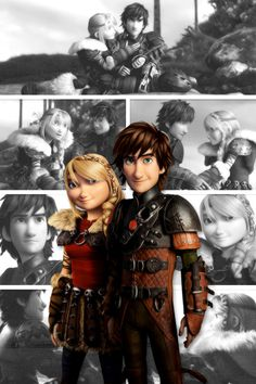 Hiccstrid ~ How to Train Your Dragon 2 - my second favorite couple and my first favorite trilogy