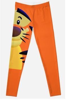 Cute Smiley Cat Leggings #leggings #clothing #tee #girly #girly #design #love #orange #cat #bigcat #garfield #tiger #lion #calvinandhobbes #retro #cartoons #animation #kids #toddler #junglebook