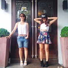 Yassi and Nadine (yassi IG) Nadine Lustre, Yassi Pressman, Hey Gorgeous, Jadine, Summer Outfits, Summer Dresses, Different Styles, Underarm, Skater Skirt