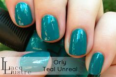 Orly Teal Unreal swatch.