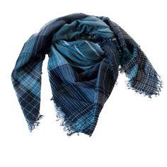 Stole wool stripes checks ErmesOutfit.