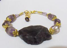 Bracelet, améthyste naturelle, magie pourpre! : Bracelet par danastone