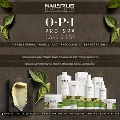 Discover our new complete range of manicure and pedicure products, including everything you need to moisturize, polish and nourish. #Skincare #opi #opiprospa #prospa #manicure #pedicure #fashion #lifestyle visit us at www.nailsrus.ca