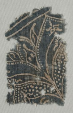 India, 12th-14th century  plain cloth, resist dyed; cotton, Overall - h:20.30 w:12.45 cm (h:7 15/16 w:4 7/8 inches). Purchase from the J. H. Wade Fund 1951.509. Cleveland Museum of Art.