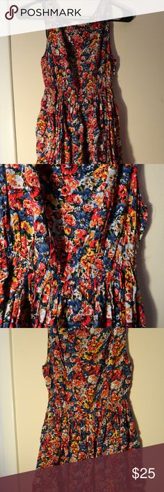 Flowly dress from Francesca's Collections This dress is fun! Great for a summery or spring day. Can wear this with leggings as well. I am 5'7 and it comes to just above the knee. Francesca's Collections Dresses