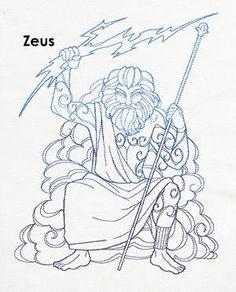 poseidon greek gods coloring pages - photo#26