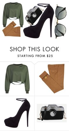 """""""Casual Wednesday"""" by adityanuramaliao on Polyvore featuring WithChic, Diverso, Giuseppe Zanotti and Ray-Ban"""
