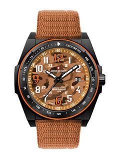 Swiss Military by R 50505 37N OR Commando Men's Watch Orange Camo Dial