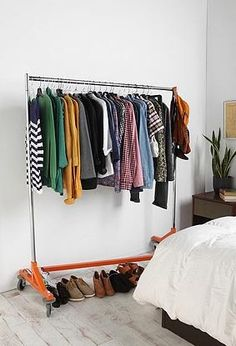 Tangerine Tango Industrial Garment Rack by Urban Outfitters