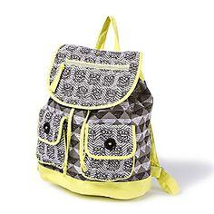 Owl Chevron Print Backpack
