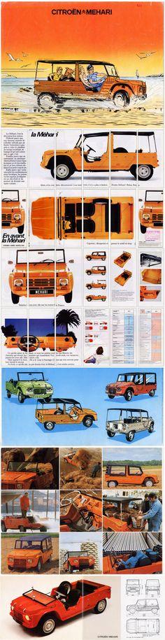 Méhari - Citroën (1968/1987) Parfois on la prenait le samedi matin avec Papy... la classe!