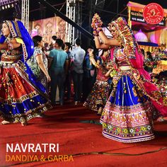 literally means 'nine nights'. It worships the different forms of Goddess and is celebrated differently all over In the whole city comes alive with buoyant spirit of the traditional dance forms - Garba and Dandiya Raas. Navratri Garba, Navratri Dress, Choli Designs, Lehenga Designs, Dandiya Raas, Garba Dance, Fashion Dresses, Women's Fashion, Dance Moves