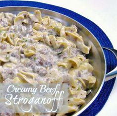Cooking with K - Southern Kitchen Happenings: Creamy Beef Stroganoff {Granny's Recipe}