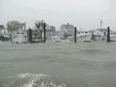 Securing the boats at Tangier Island