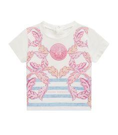 7776f7678362 Children  Tops Versace Glitter Medusa Logo Printed T-Shirt Harrods