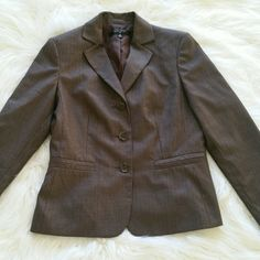 "SALE Nine West Brown Pinstriped Blazer Awesome Nine West Brown Pinstriped Blazer 23"" from top of shoulder to bottom Nine West Jackets & Coats"