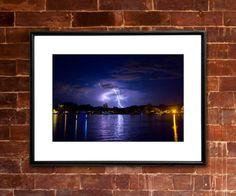 LIGHTNING Photograph - COLORADO RIVER Parker, Arizona - River Weather Thunderstorm Landscape Picture by JaydotCreative on Etsy