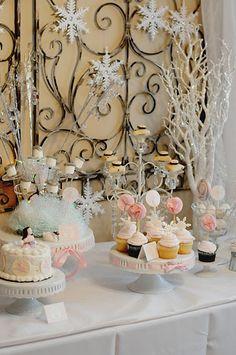 nutcracker sugar plum dessert table