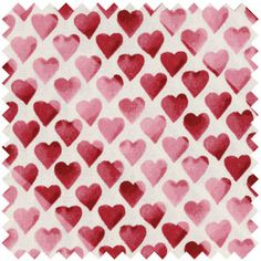 Pink Hearts Fabric, Valentine's