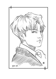 Jeon Jungkook fan art #A4Arts Bts, Fan Art, Drawings, Fanart, Drawing, Paintings, Paint, Draw