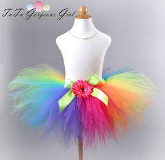 Girls Rainbow Birthday Tutu...Baby Girls by TutuGorgeousGirl
