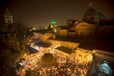 Ethiopian Orthodox Christians celebrate Easter at their monastery on the roof of the Church of the Holy Sepulcher