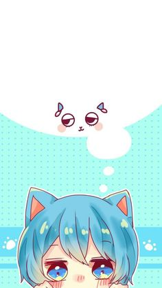 Kawaii Chibi, Cute Chibi, Kawaii Anime, Anime Chat, Anime Neko, Kawaii Drawings, Cute Drawings, Old Anime, Anime Stickers