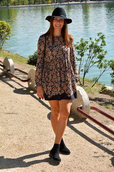 vestido estampado de manga larga #kissmylook