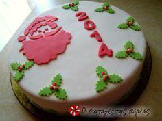 Βιεννέζικη βασιλόπιττα #sintagespareas Christmas Cake Decorations, Christmas Sweets, Christmas Time, Christmas Cakes, Christmas Recipes, Mini Cakes, Cupcake Cakes, Mothers Day Cake, Cookie Decorating