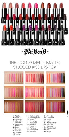 Sephora Glossy / FIND YOUR IDEAL KAT VON D LIP COLOR. Too much nice choice !